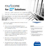 download faxcore for sap solution overview